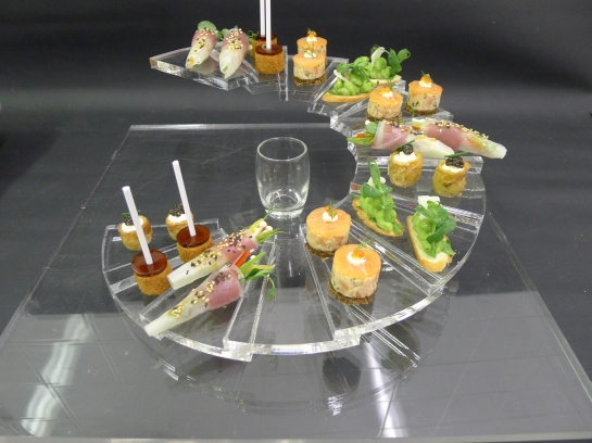 The Spiral -I designed this Canape tray to be functional and yet modern in my favourite material..Perspex